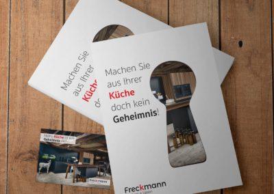 Flyer mit Gutschein-Karte – Küchen Freckmann GmbH & Co. KG