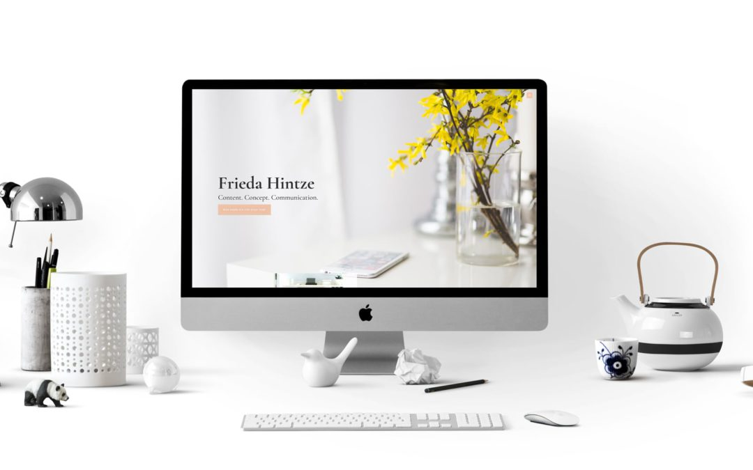 Neue WordPress-Website für Frieda Hintze aus Berlin