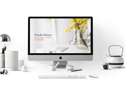 WordPress-Website – Frieda Hintze