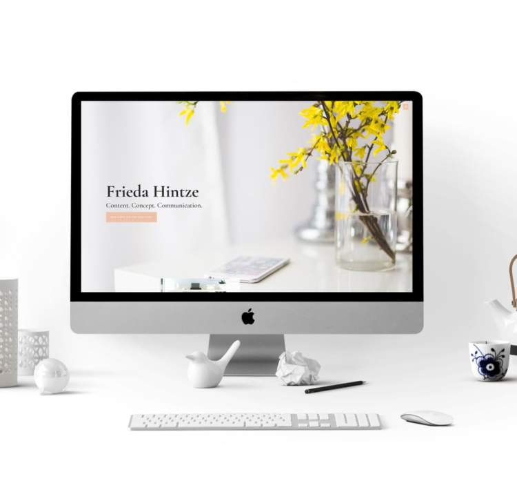 WordPress-Website – Frieda Hintze
