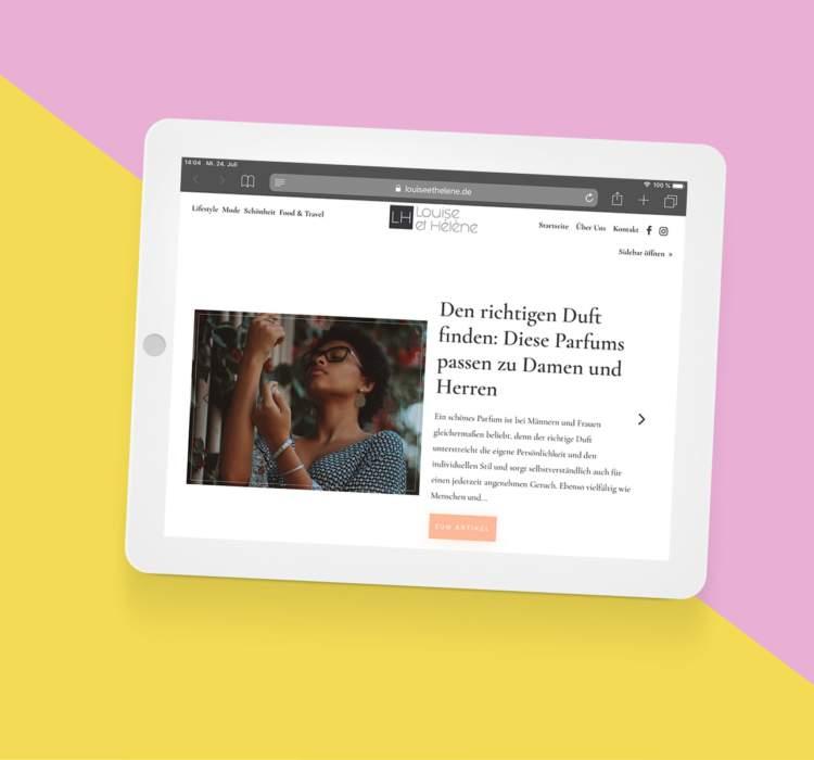 Ein moderneres Layout für den Blog Louise et Hélene. mit WordPress und Divi